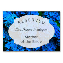 Dark Blue Floral Reserved Seating Table Sign Table Number