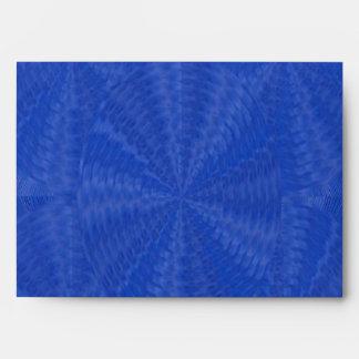 Dark Blue Floral Waves - Graphic Design Envelope