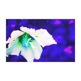 dark blue flower pop art canvas print