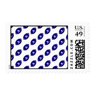 Dark Blue Football Pattern Stamp
