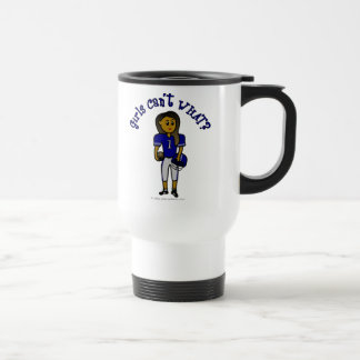 Dark Blue Football Travel Mug