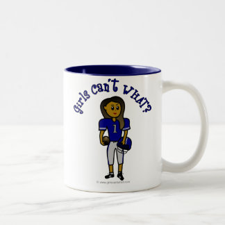 Dark Blue Football Two-Tone Coffee Mug