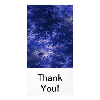 Dark Blue Fractal Card
