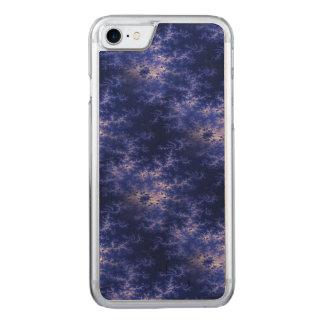 Dark Blue Fractal Carved iPhone 8/7 Case