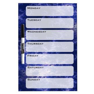 Dark Blue Fractal Dry Erase Board