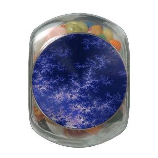Dark Blue Fractal Jelly Belly Candy Jar