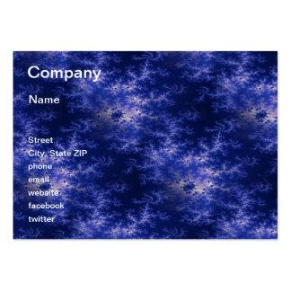 Dark Blue Fractal Large Business Card