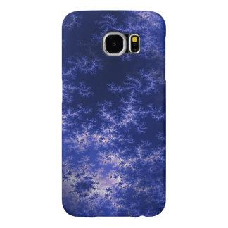 Dark Blue Fractal Samsung Galaxy S6 Case