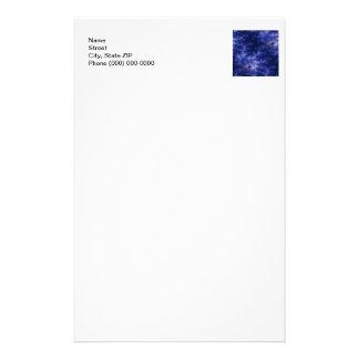 Dark Blue Fractal Stationery