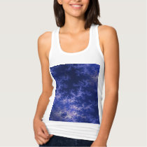 Dark Blue Fractal Tank Top