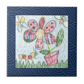 Dark Blue Framed Tile/Trivet  $17.95 Ceramic Tile