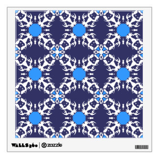 Dark Blue Frenchie Pattern Wall Decal