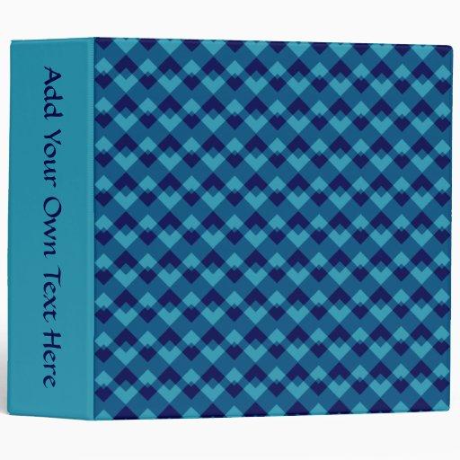 Dark Blue Geometric Pattern. 3 Ring Binder