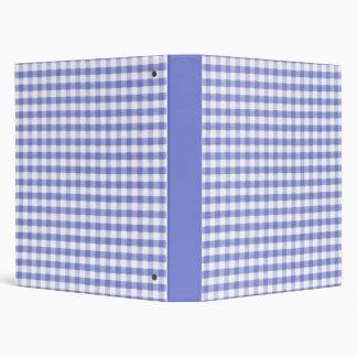 Dark blue gingham pattern binder