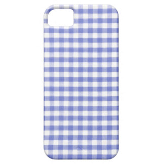 Dark blue gingham pattern iPhone 5 cases