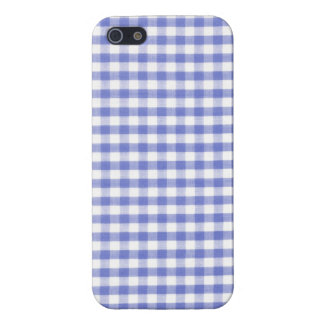 Dark blue gingham pattern covers for iPhone 5