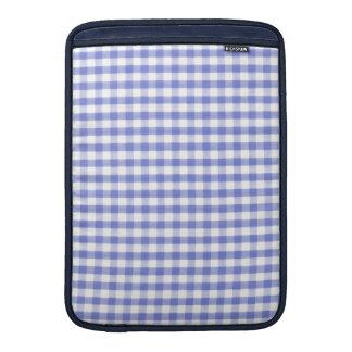 Dark blue gingham pattern MacBook air sleeves