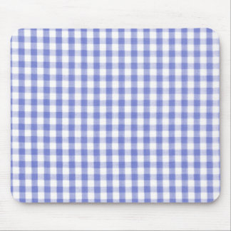 Dark blue gingham pattern mouse pad
