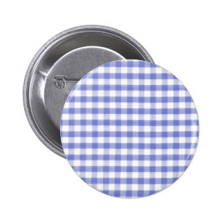 Dark blue gingham pattern pinback button