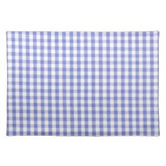 Dark blue gingham pattern place mat