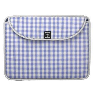 Dark blue gingham pattern sleeve for MacBook pro