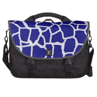 Dark Blue Giraffe Animal Print Commuter Bag