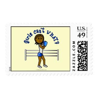 Dark Blue Girls Boxing Postage