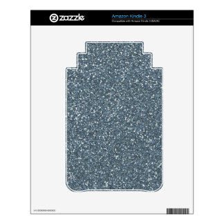 Dark Blue Glitter Decals For The Kindle 3