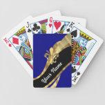 Dark blue & gold fleur de lys poker deck