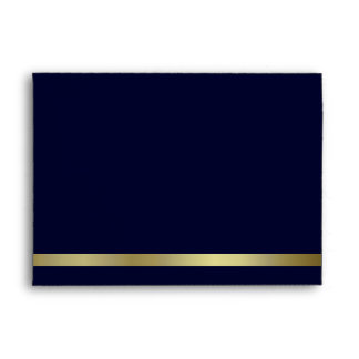 Dark Blue & Gold Invitation Envelope