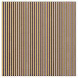[ Thumbnail: Dark Blue & Goldenrod Colored Pattern Fabric ]