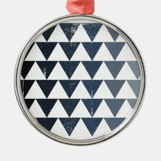 Dark Blue Gradient Metal Ornament