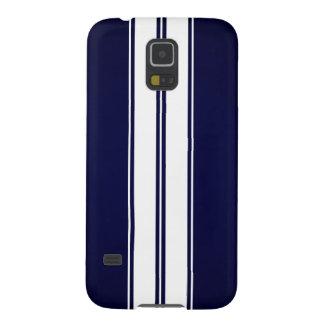 Dark Blue Gradient White Racing Stripes Galaxy S5 Cover