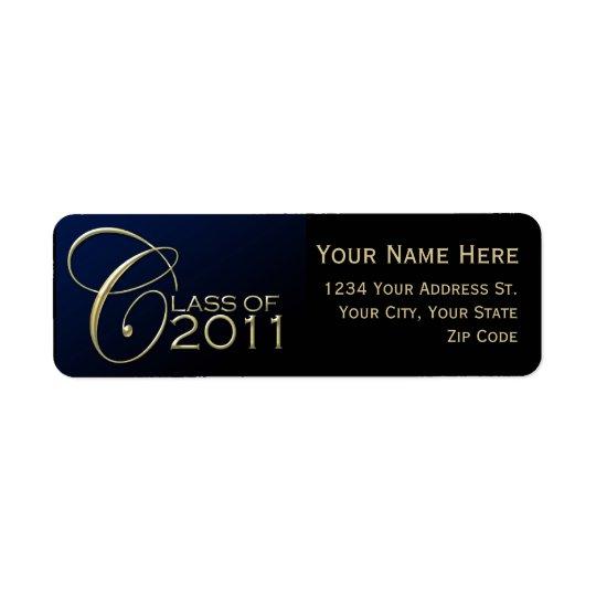 Dark Blue Graduation Return Address Labels