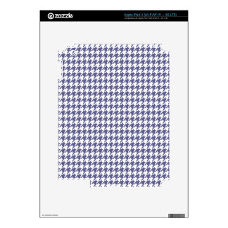 Dark Blue-Gray Houndstooth iPad 3 Decal