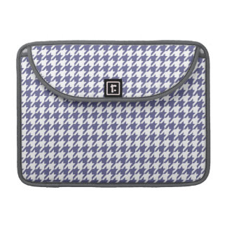 Dark Blue-Gray Houndstooth Sleeve For MacBook Pro