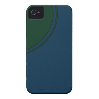 Dark blue green circle Case-Mate iPhone 4 cases