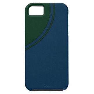 Dark blue green circle iPhone SE/5/5s case