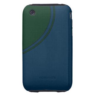 Dark blue green circle tough iPhone 3 case