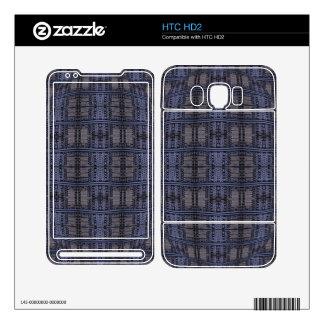 dark blue grey grunge decals for the HTC HD2