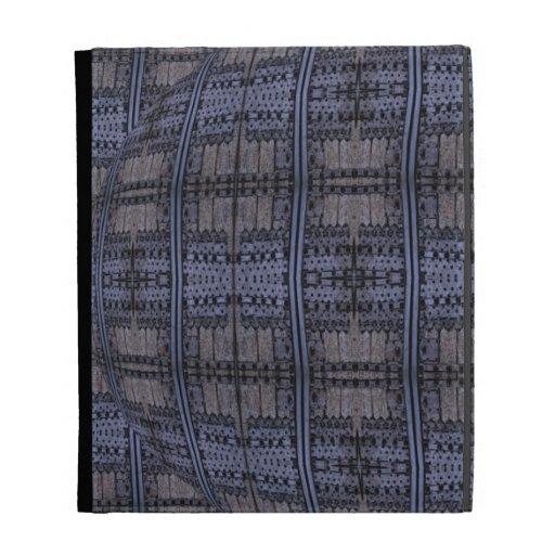 dark blue grey grunge iPad folio case