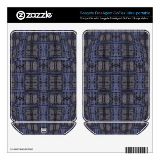 dark blue grey grunge FreeAgent GoFlex decal