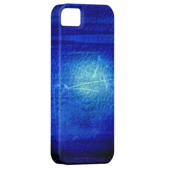 Dark blue grunge wall background graphic design iPhone SE/5/5s case