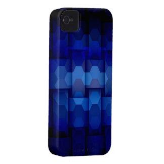 Dark blue hexagons seamless graphic design iPhone 4 covers