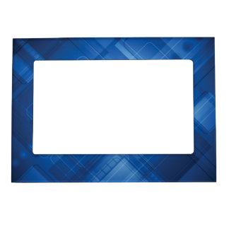Dark blue hi-tech background magnetic frames