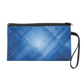 Dark blue hi-tech background wristlet purse