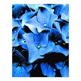 Dark Blue Hydrangea Letterhead