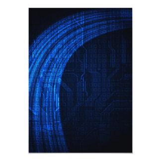 dark blue invitation