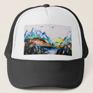 Dark Blue Lake Baseball Hat