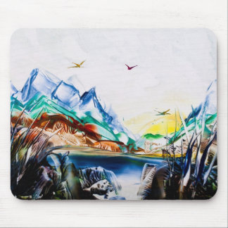 Dark Blue Lake Mousemat Mouse Pad